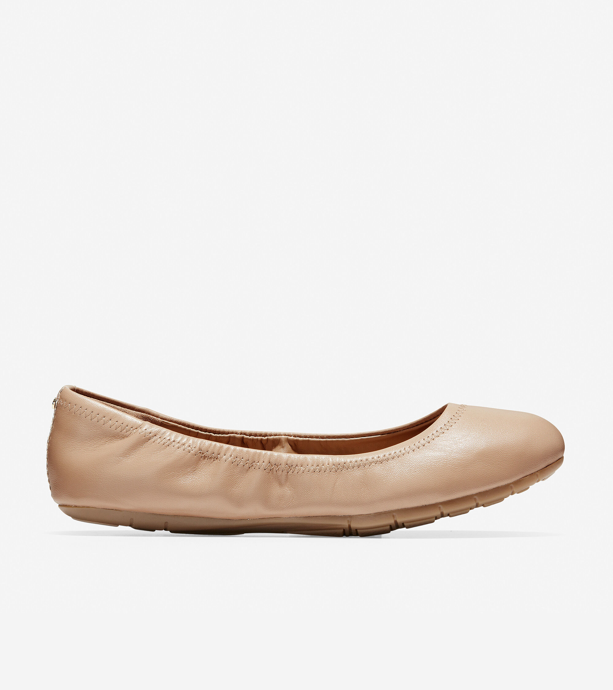 Ballet Flat in Maple Sugar Leather