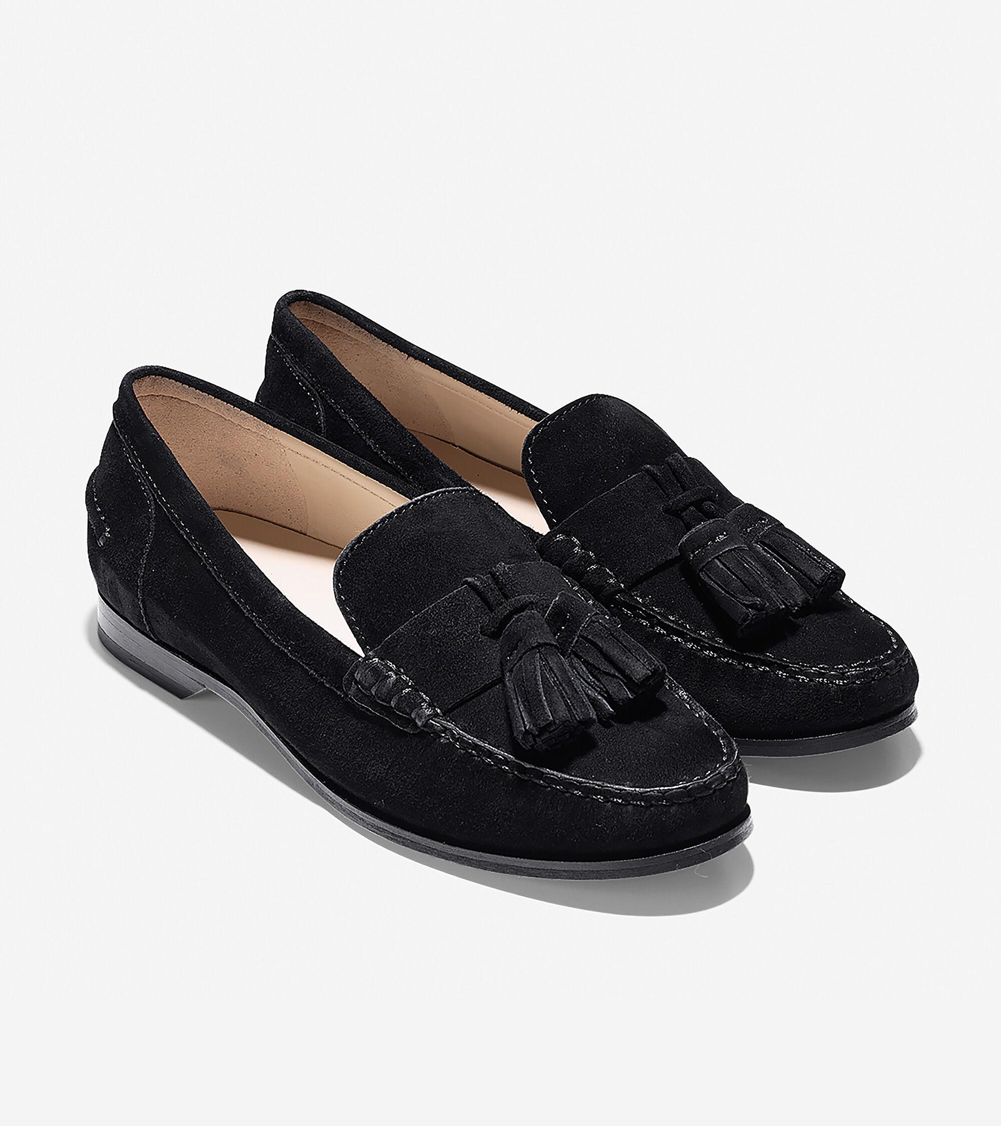cole haan black tassel loafers