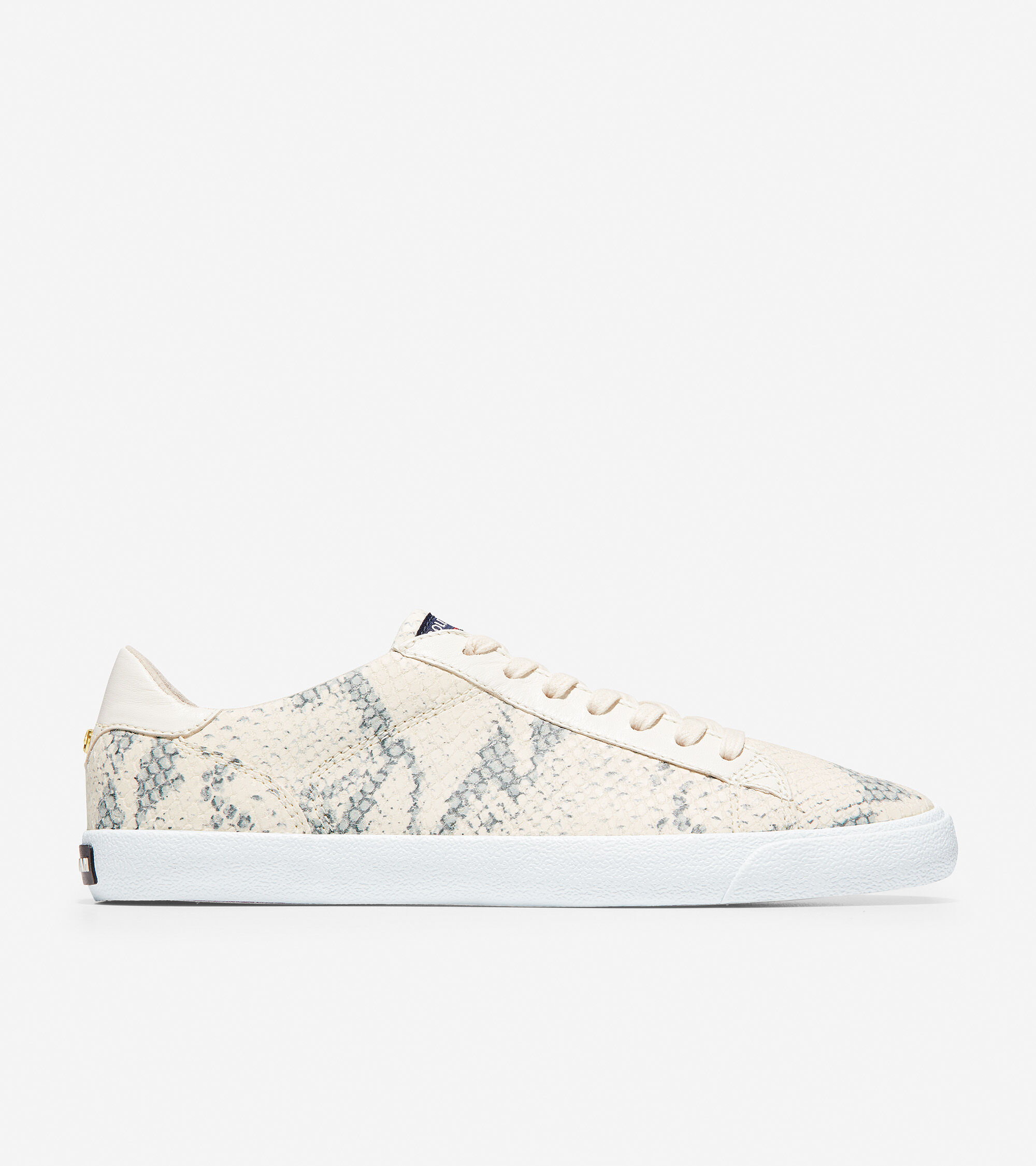 Carrie Sneaker in Chalk Python Print
