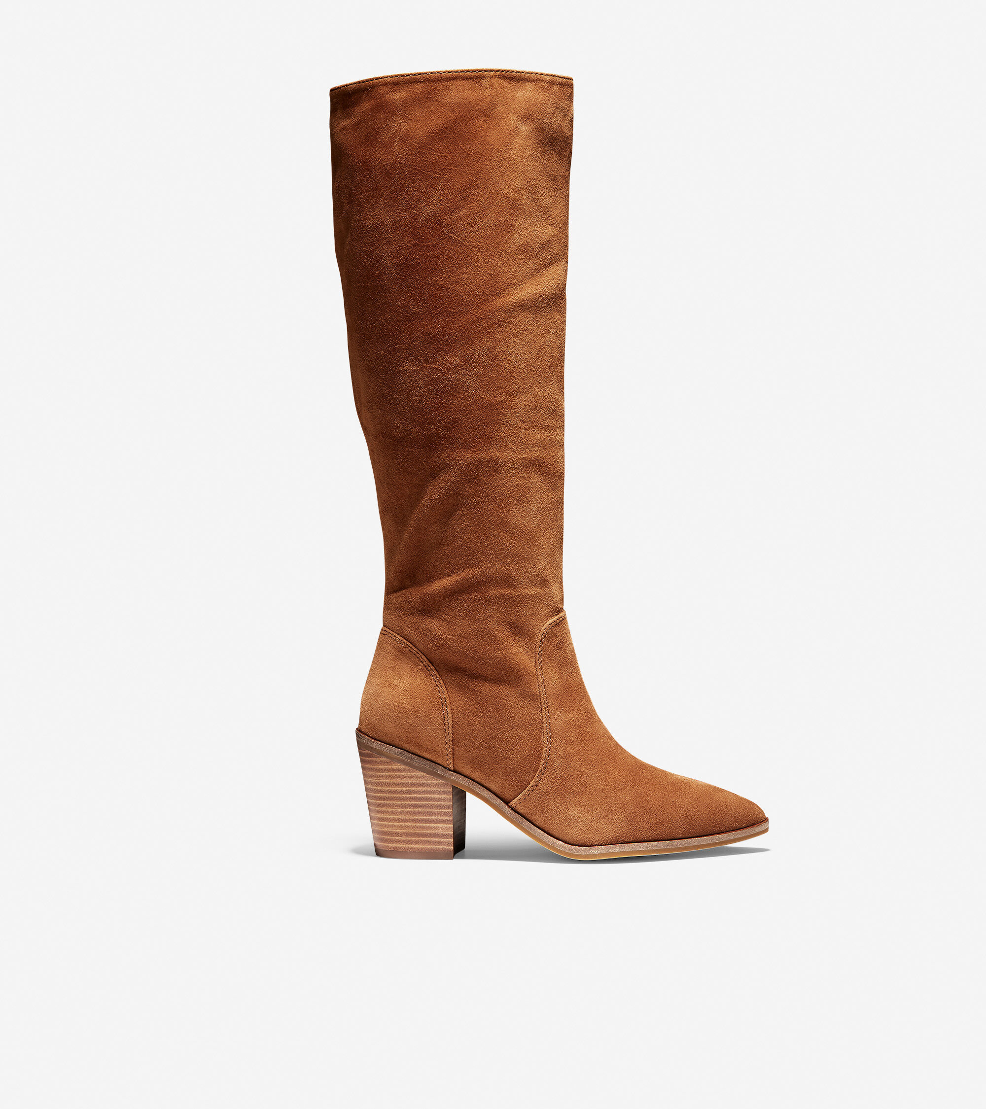Willa Boot (75mm) in British Tan Suede
