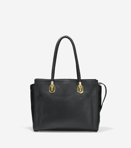 66b25521e86e2 Women s Benson Work Tote in Black Leather