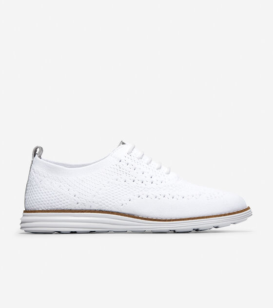 c0ce0f84382 Women's OriginalGrand Knit Wingtip Oxfords in White | Cole Haan