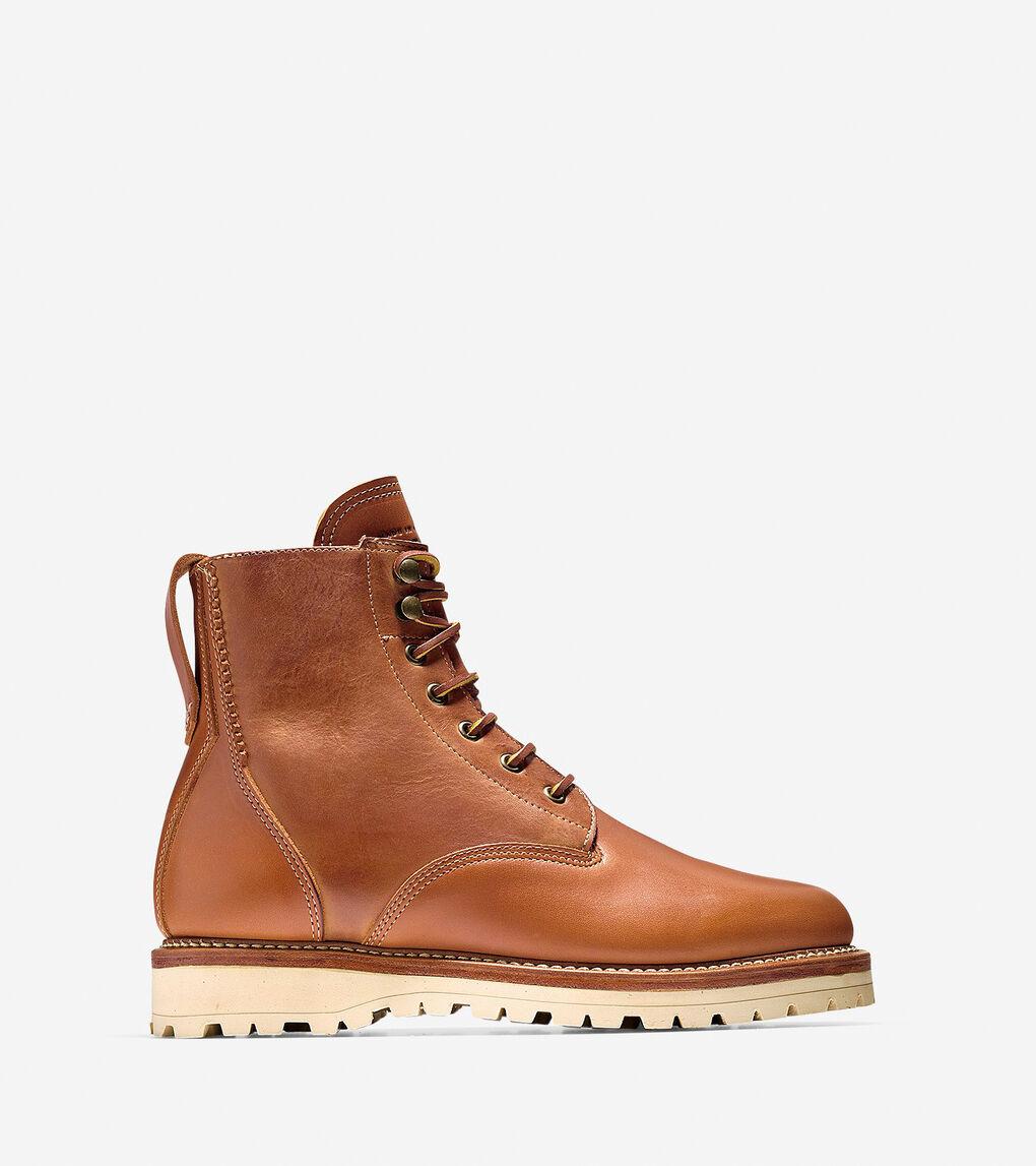 69846b22f5e Men's Maine Rugged Plain Toe Boot in Dark Tan Leather | Cole Haan US