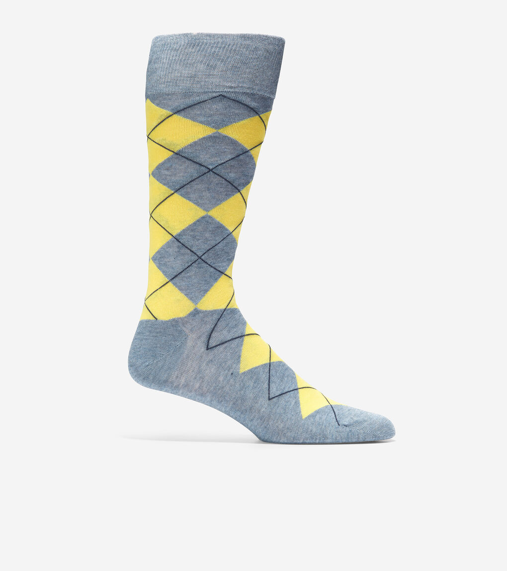 MENS Classic Argyle Crew Socks