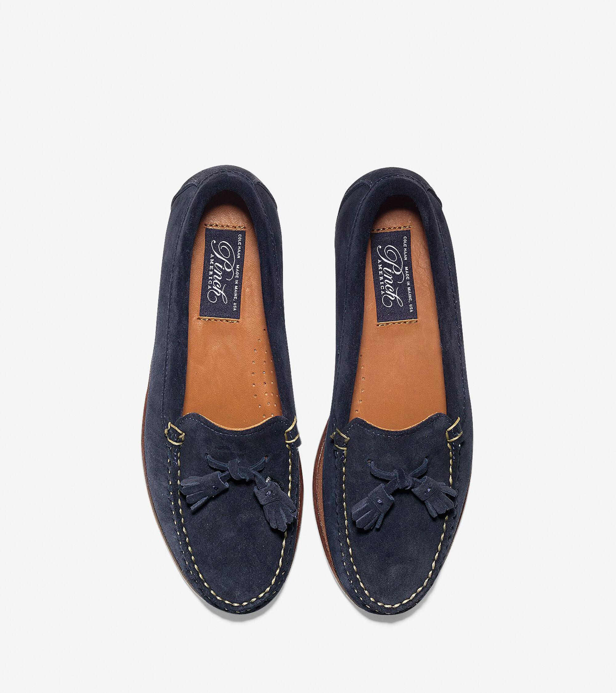 847fd7481e1 Pinch America Tassel Loafers in Blue Suede