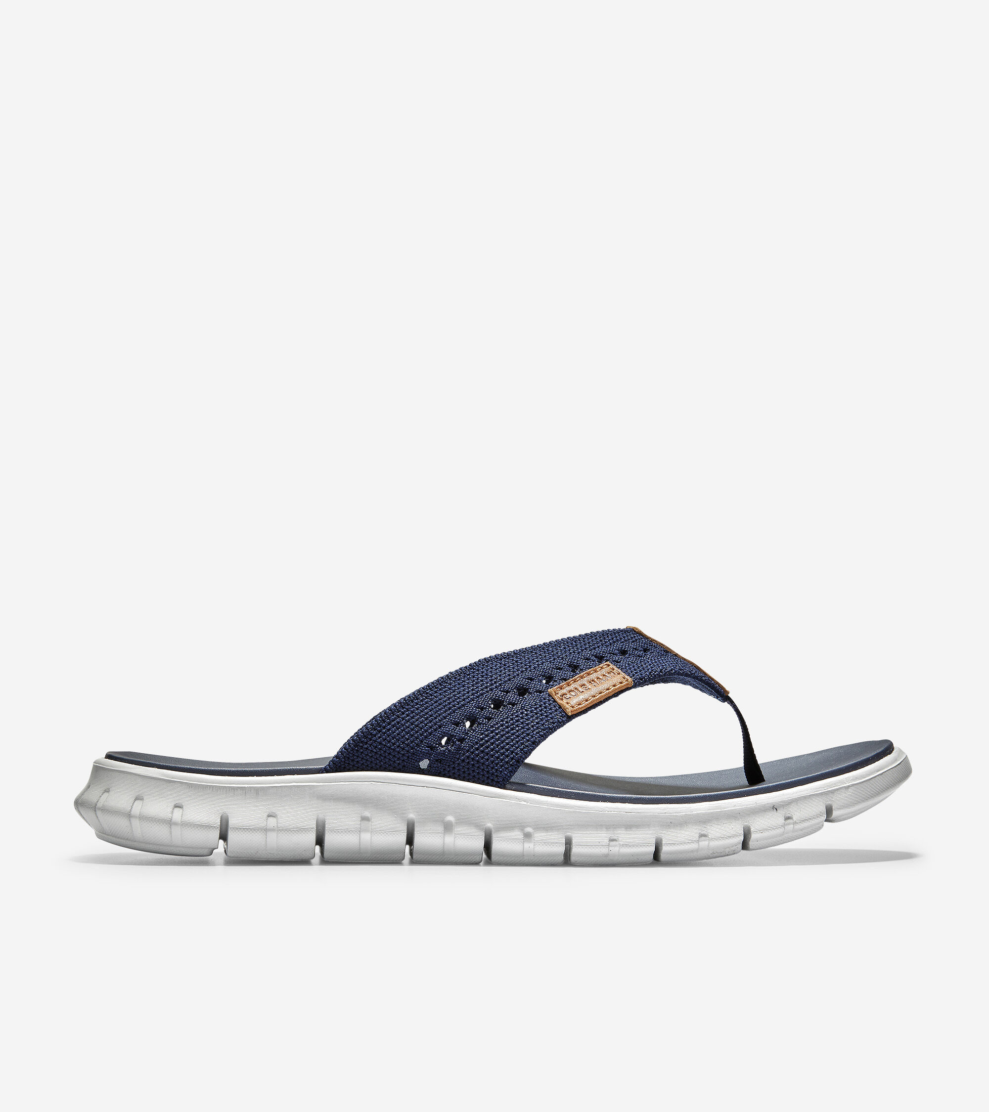 Thong Sandal in Marine Blue Stitchlite