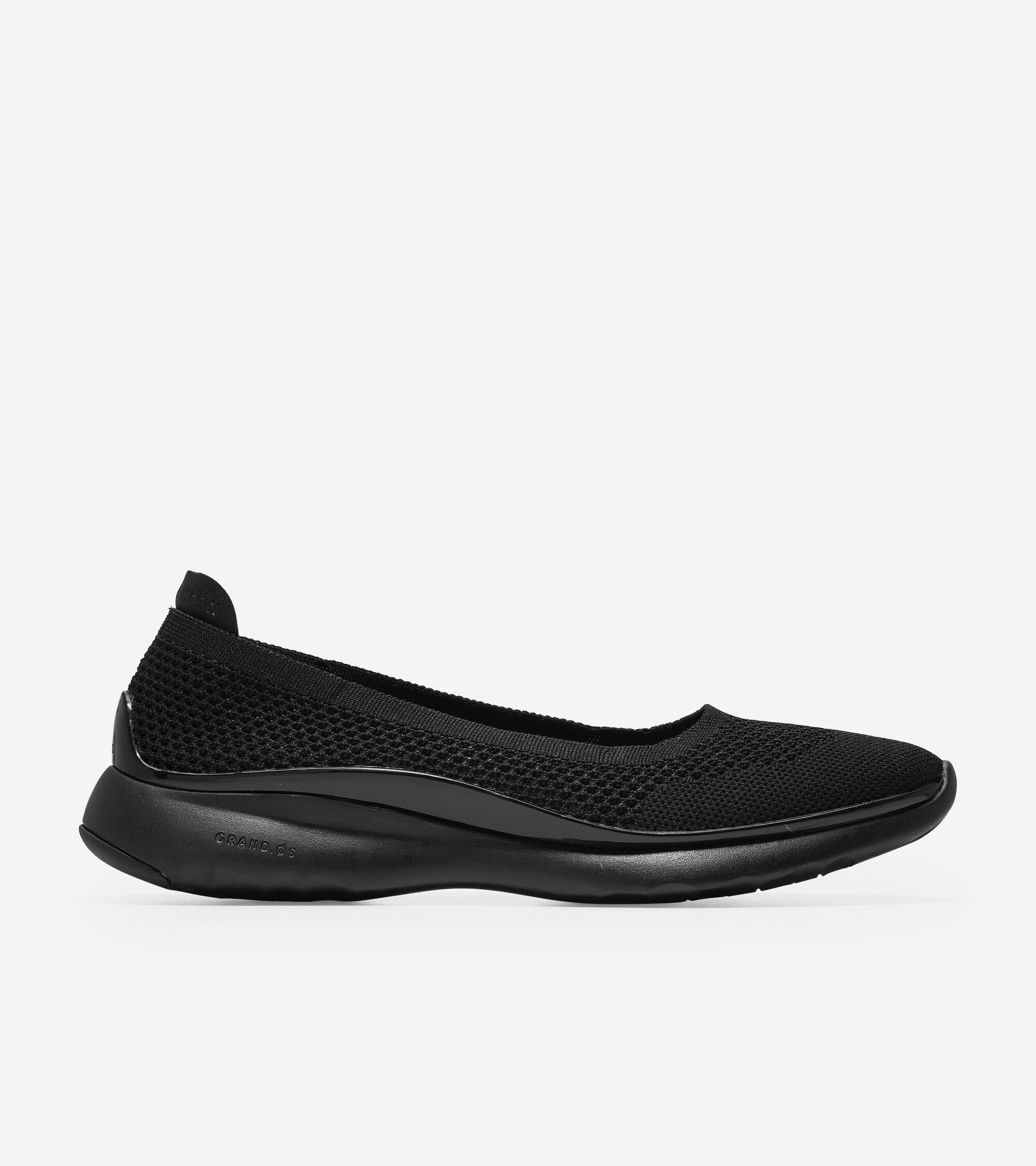 Ballet Flat in Black Stitchlite