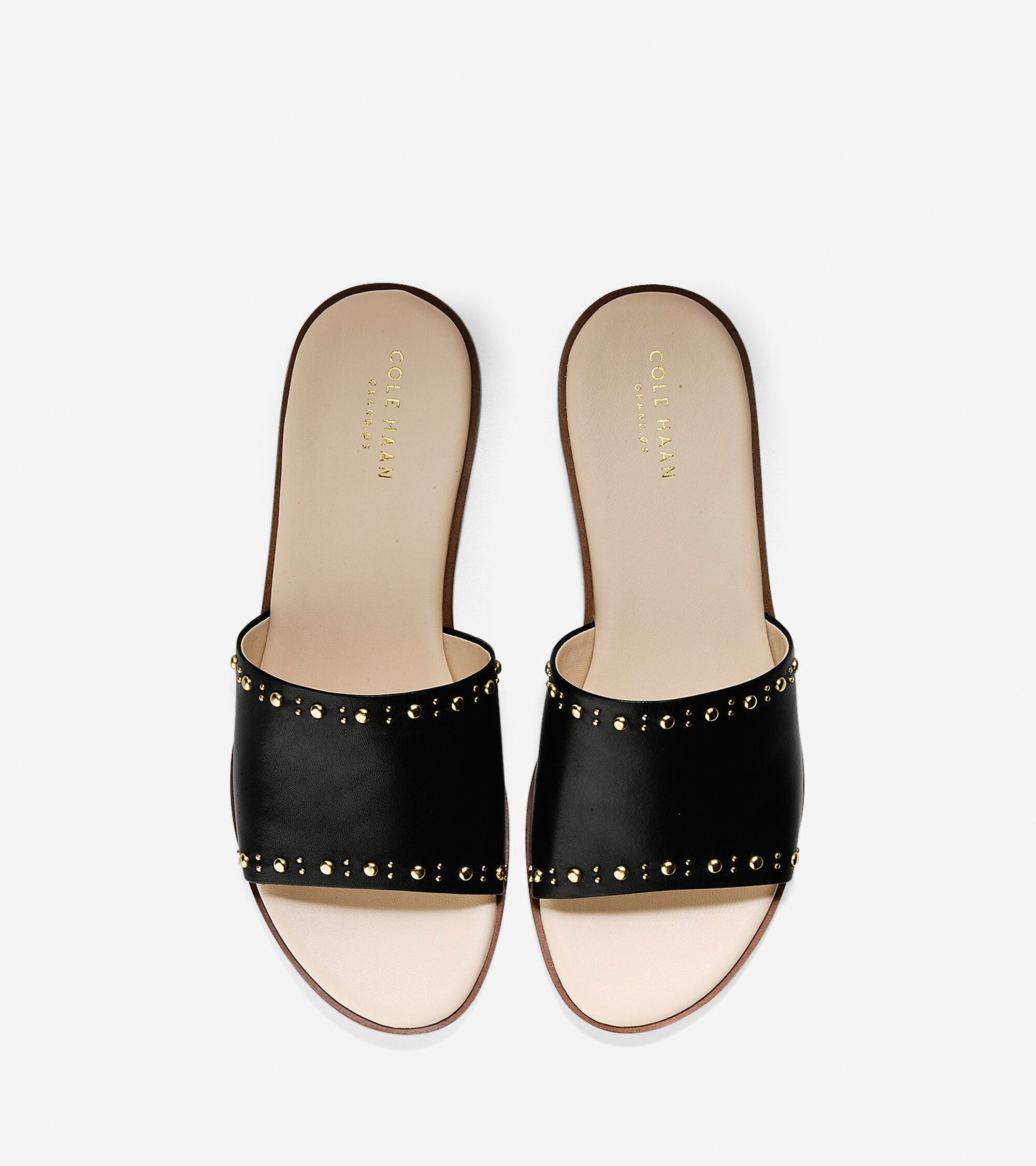 47933d316f8 Women s Anica Stud Slide Sandals in Black Leather