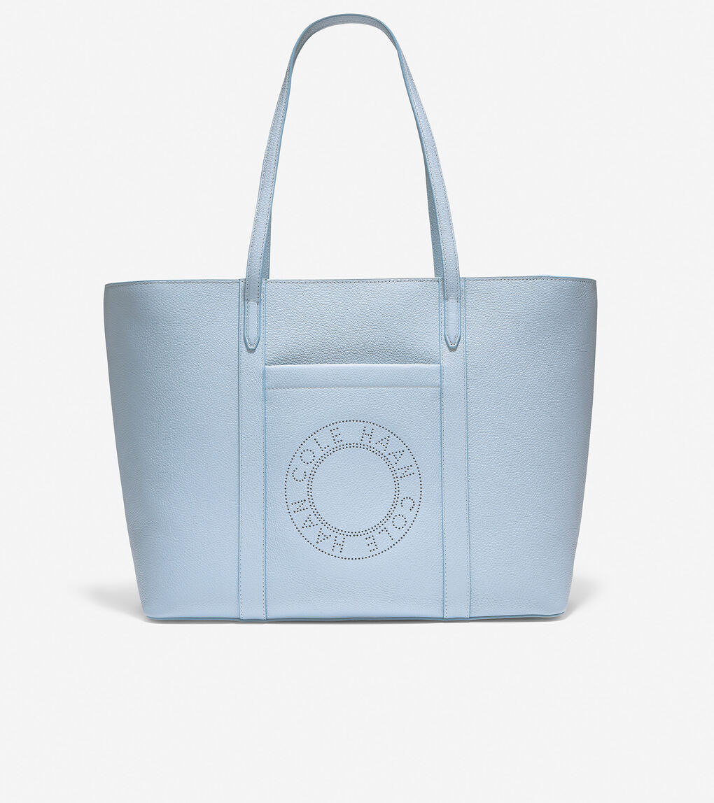 WOMENS Leather Zip Top Tote
