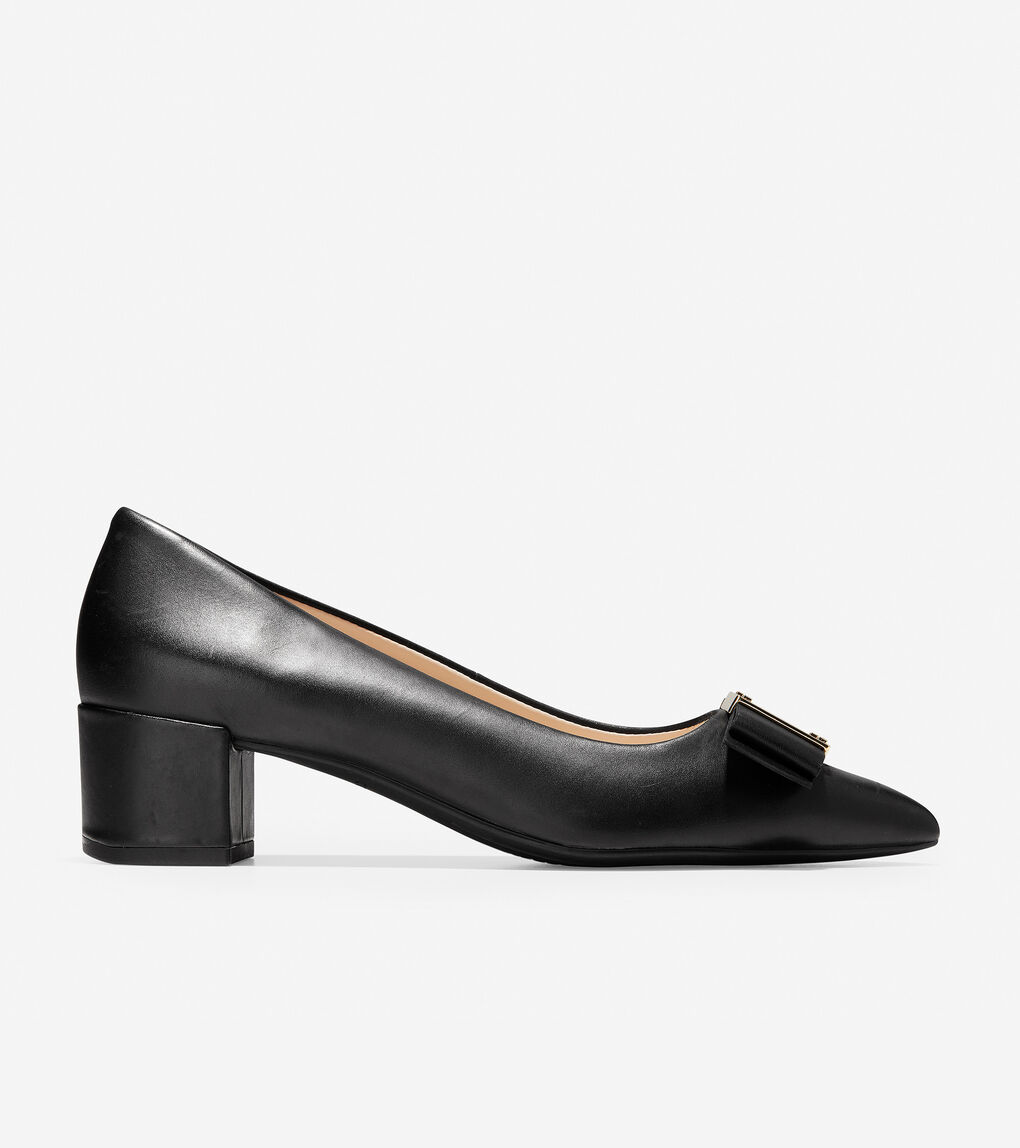 c7b111c2b Women's Tali Modern Bow Pump (45mm) in Black Leather | Cole Haan US