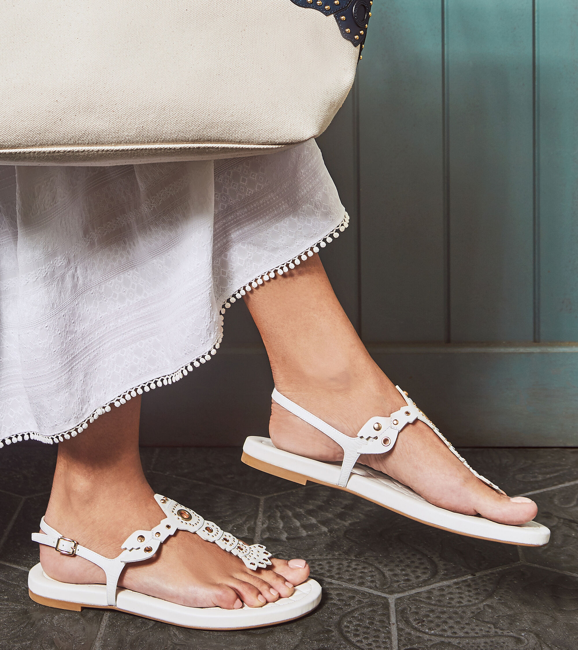 eb614e2ceeec1 Women s Pinch Lobster Sandals in White Leather