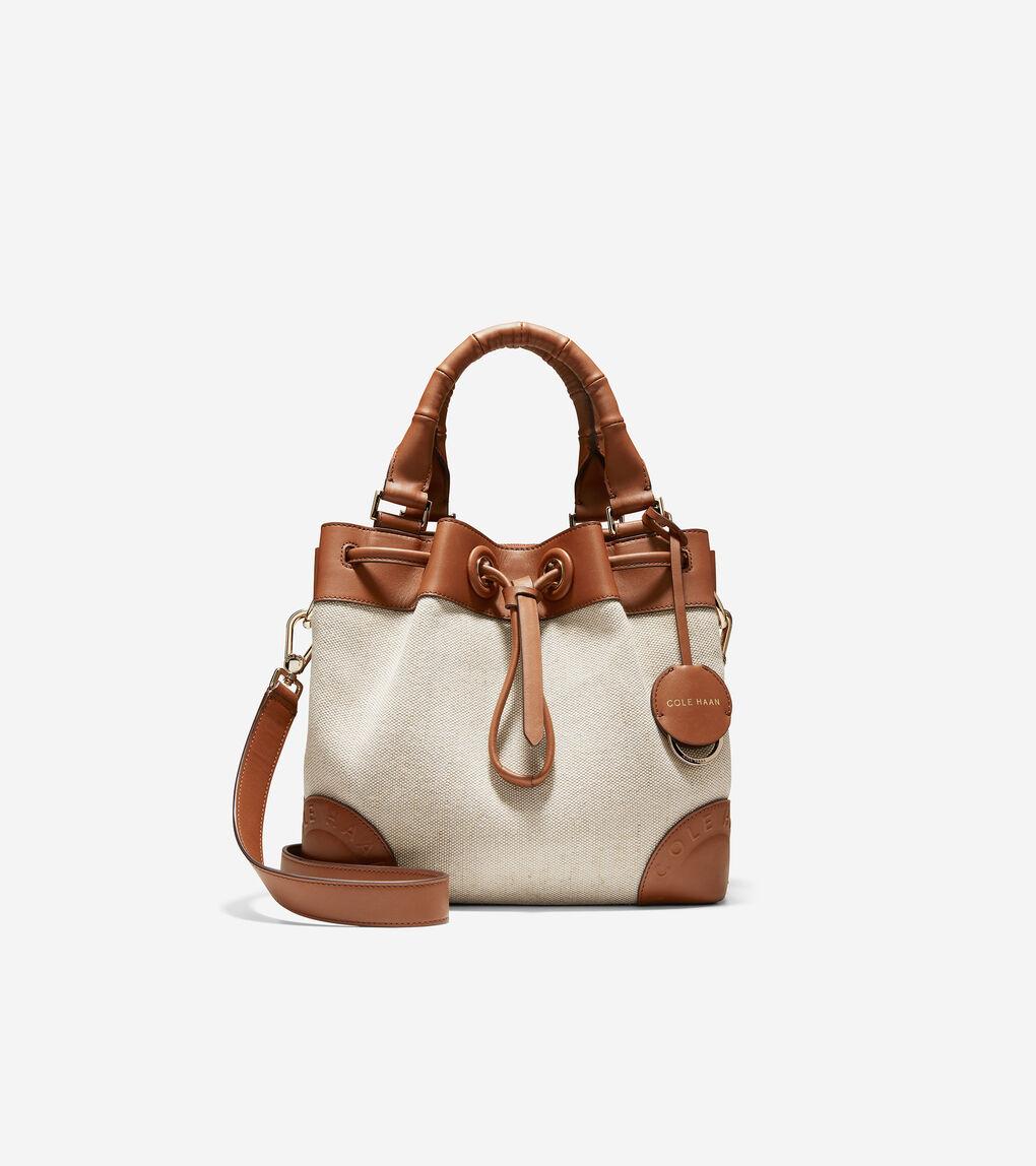 WOMENS Small Canvas Bucket Bag