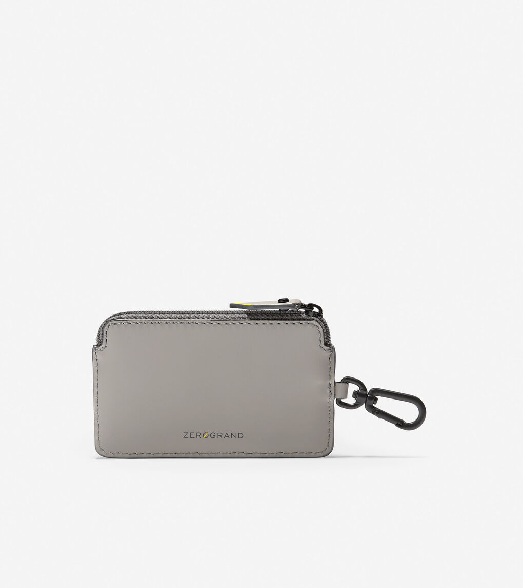 Mens ZERØGRAND Zip Card Case With Key Ring