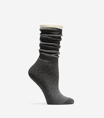 Popcorn Stitch Slouch Socks