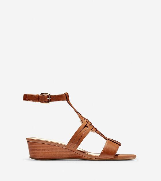 Shoes > Findra Woven Slide Wedge Sandal
