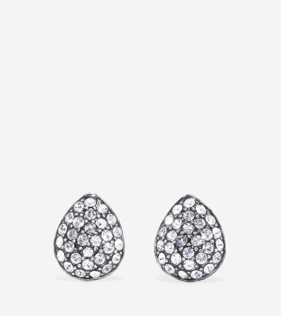 Accessories Outerwear Waters Edge Small Swarovski Pave Teardrop Stud Earrings