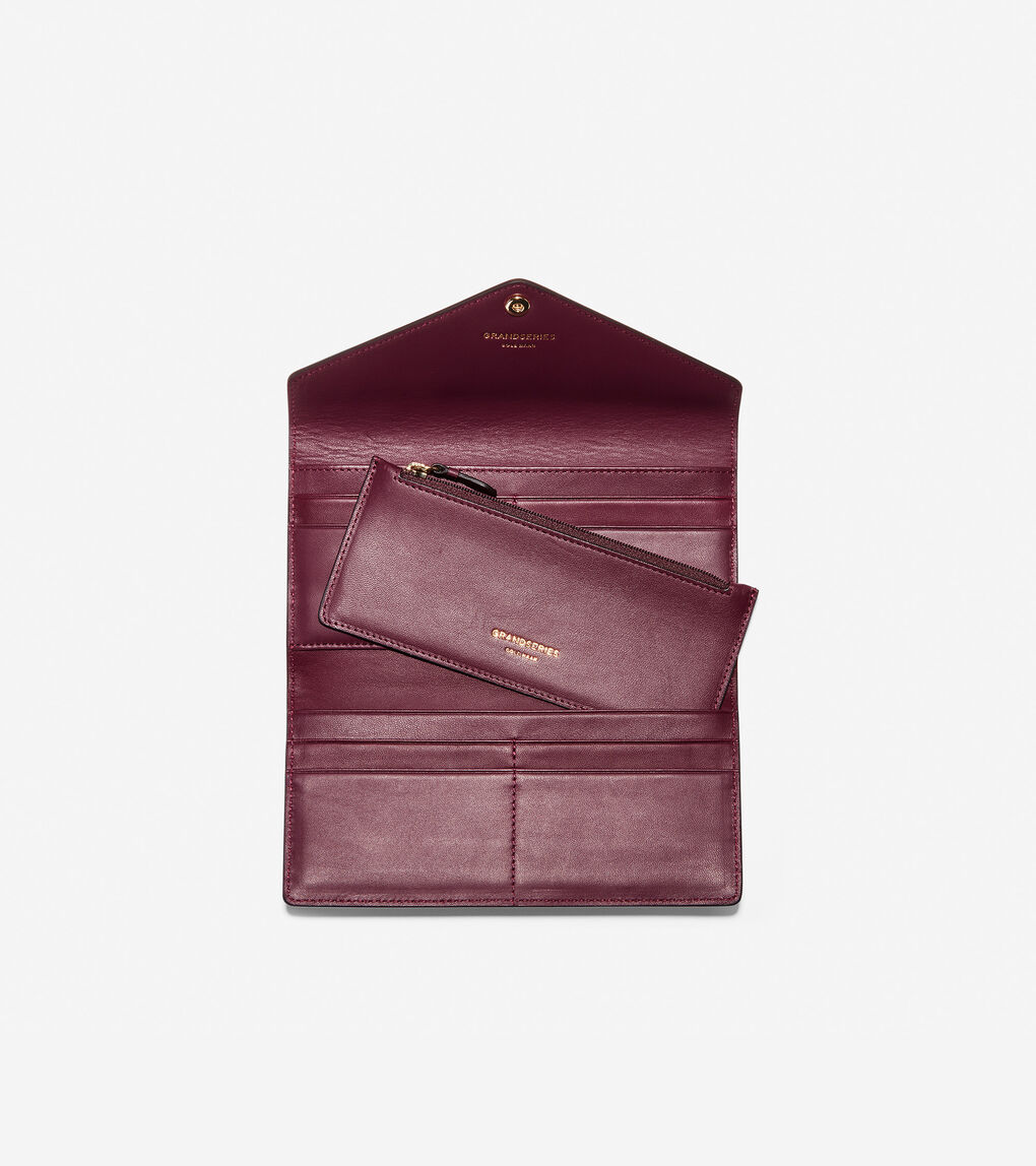 Womens GRANDSERIES Flap Trifold Envelope Wallet
