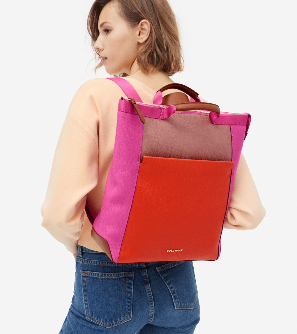 WOMENS Leather Convertible Backpack