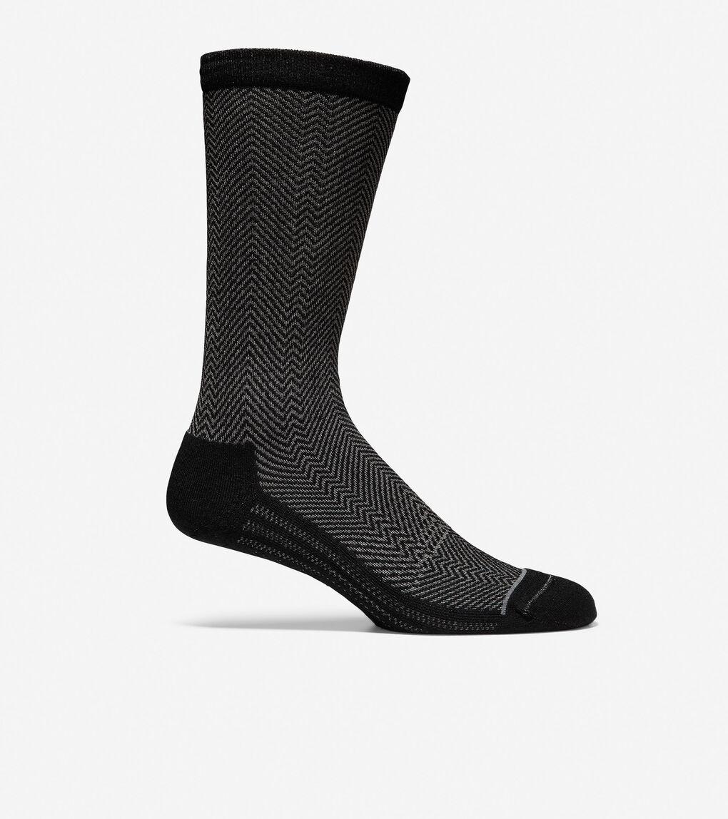 Mens GRANDSERIES Herringbone Wool Crew Socks