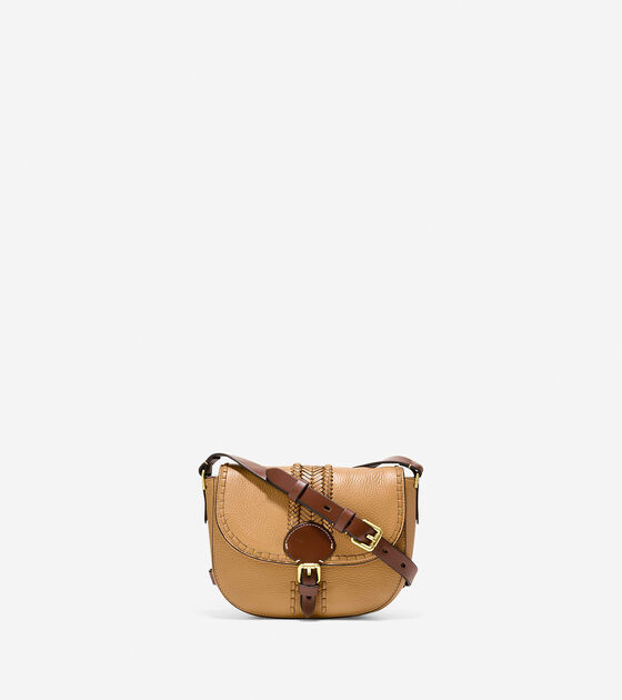 Accessories & Outerwear > Loralie Whipstitched Mini Saddle Bag