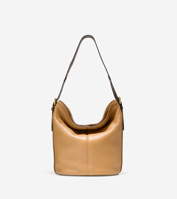 Loralie Whipstitched Bucket Hobo