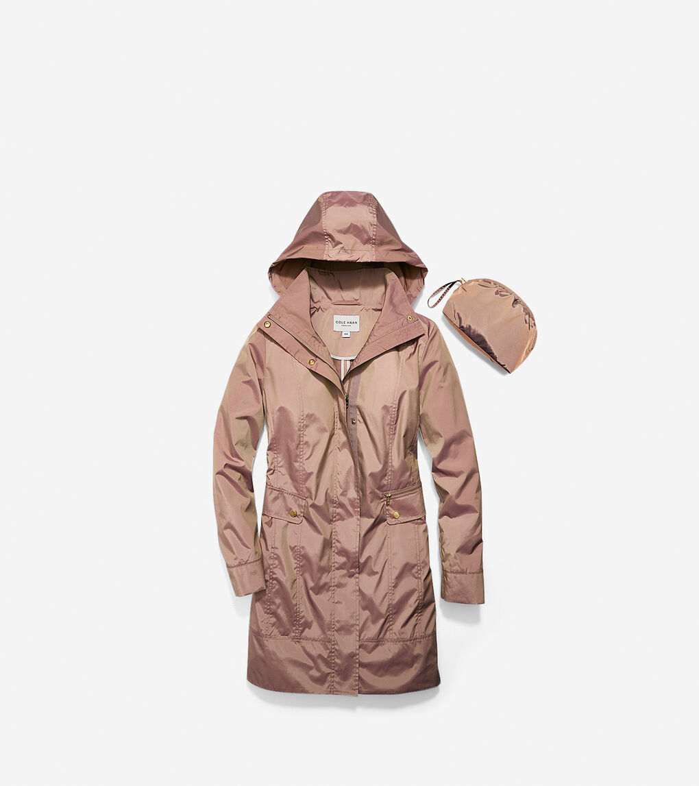 Womens Travel Packable Classic Coat