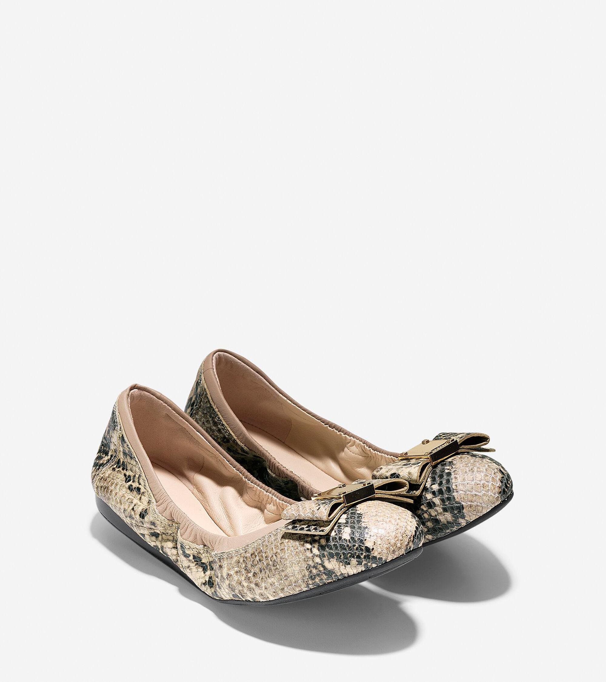 95231ccfbb53 Women s Tali Bow Ballet Flats in Roccia Snake Print