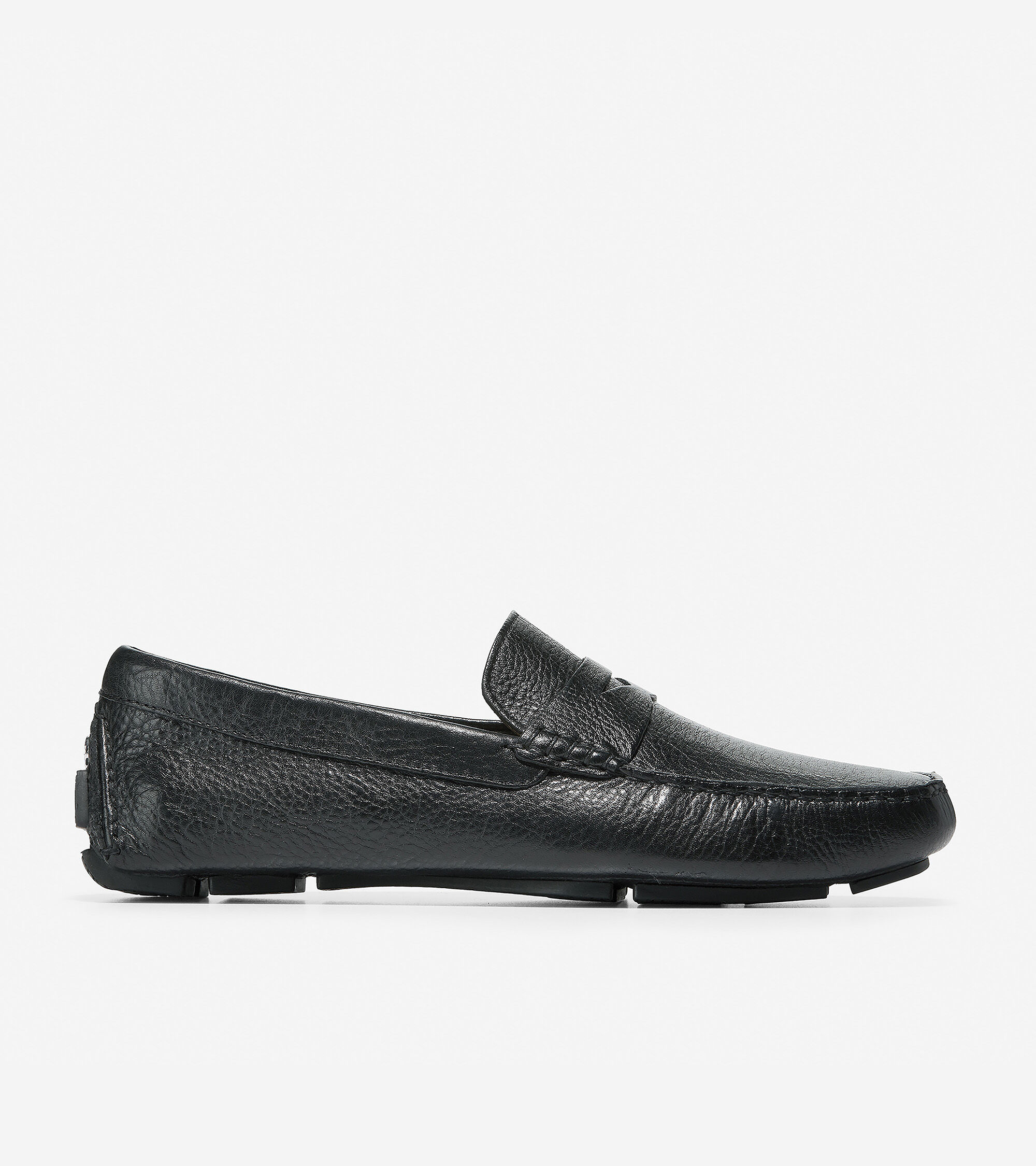 Note: Sizing runs small. We recommend ordering a half size up. Calfskin upper. Contrast stitch and signature hardware detail at the heel. Genuine hand sewn on the last moccasin construction. Unlined comfort. Rubber driving sole.