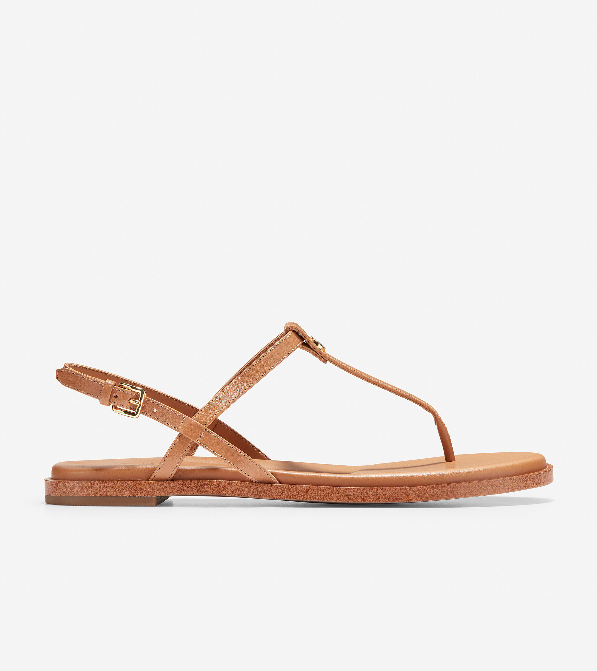 Flora Thong Sandal in Pecan Leather