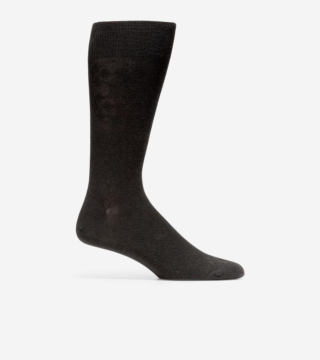 MENS Tonal Argyle Crew Socks