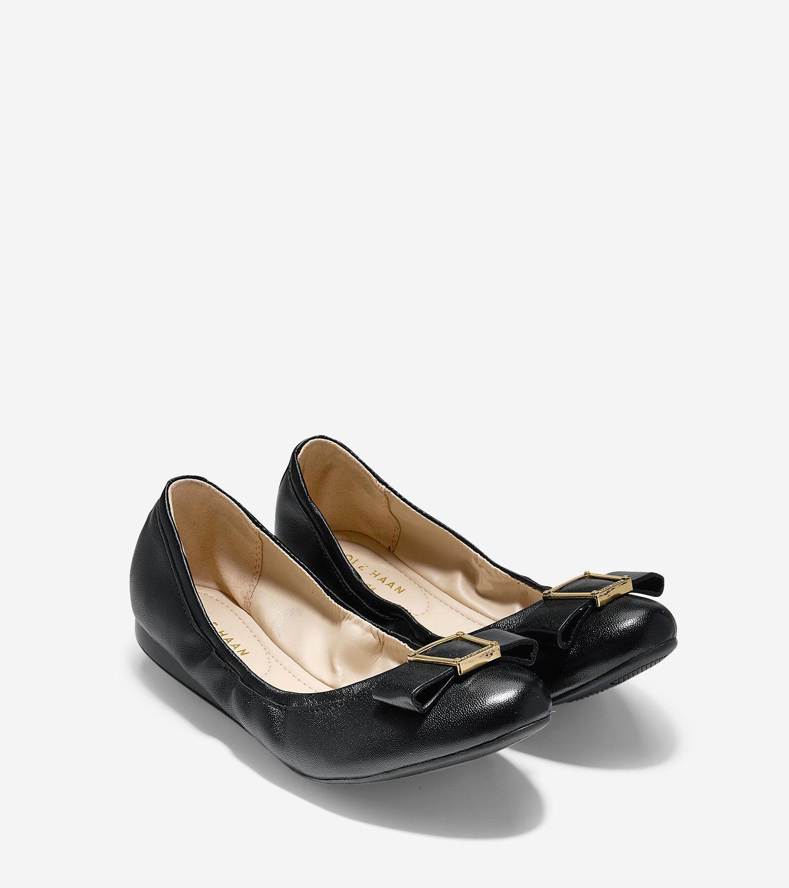 Women's Emory Bow Ballet Flat in Black