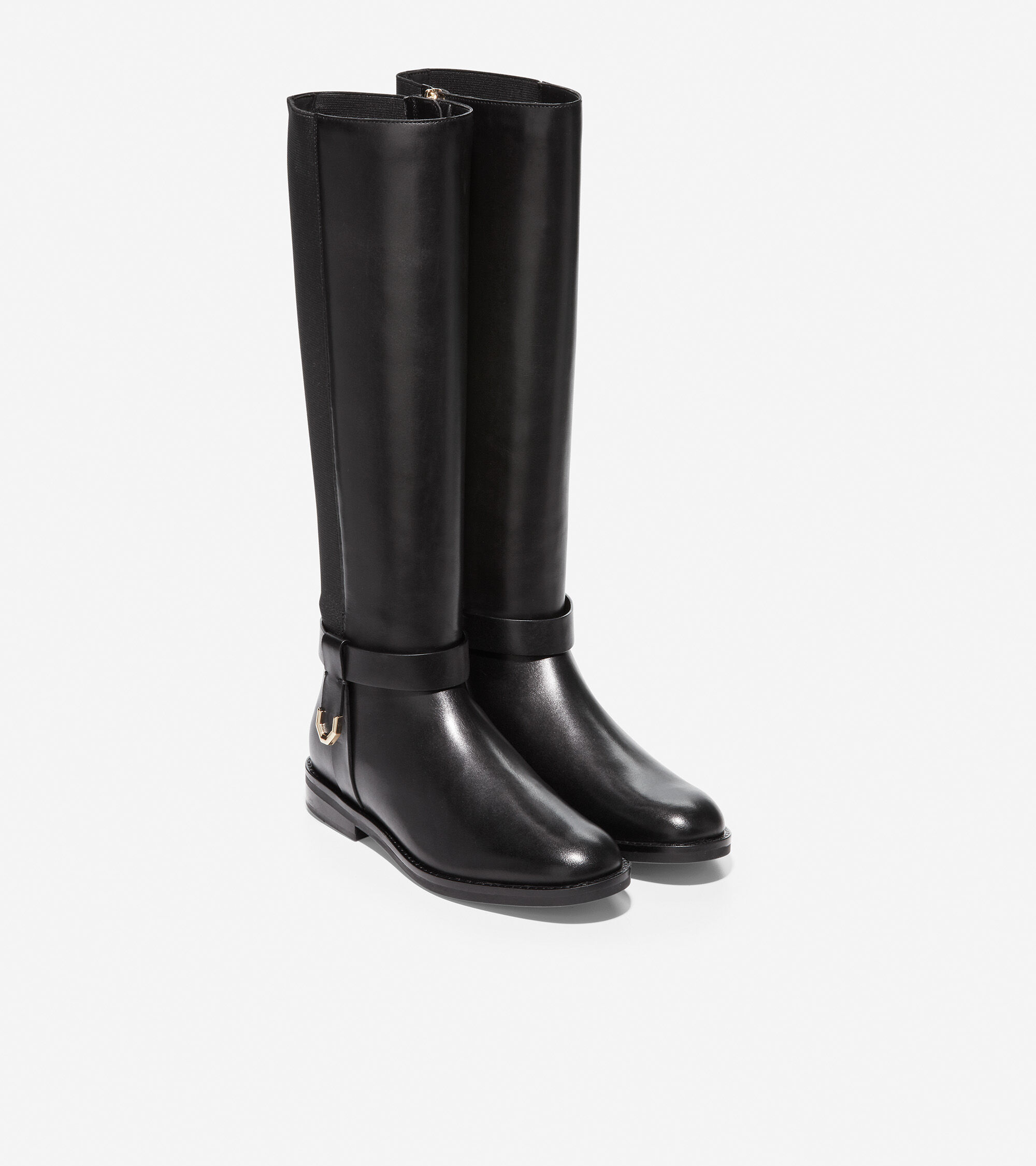 Camry Riding Boot in Black Leather