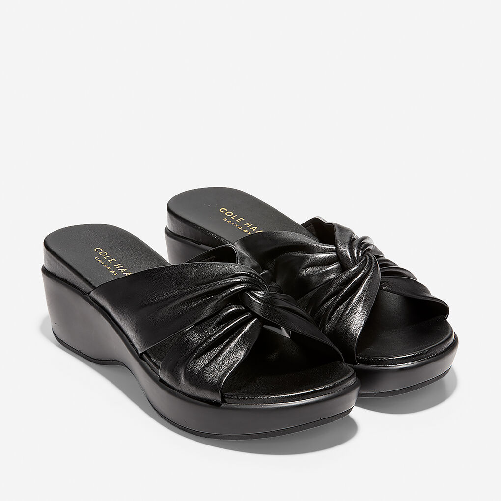 Womens Aubree Grand Knotted Slide Sandal