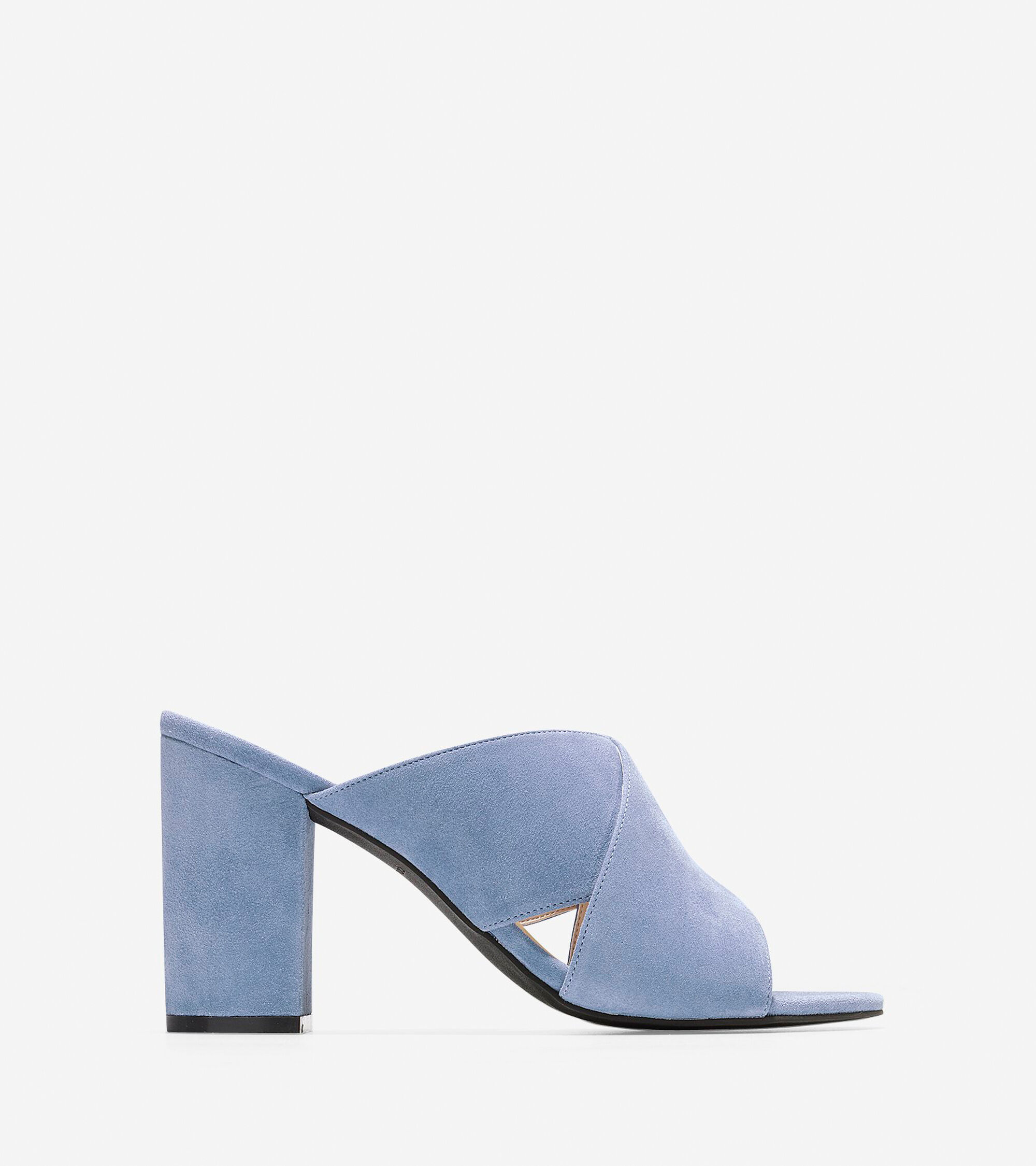 50959913d3f4 Women s Gabby Sandals 85mm in Cornwall Blue Suede