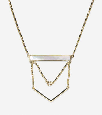 Tali Suspended Mother Of Pearl Stone Necklace