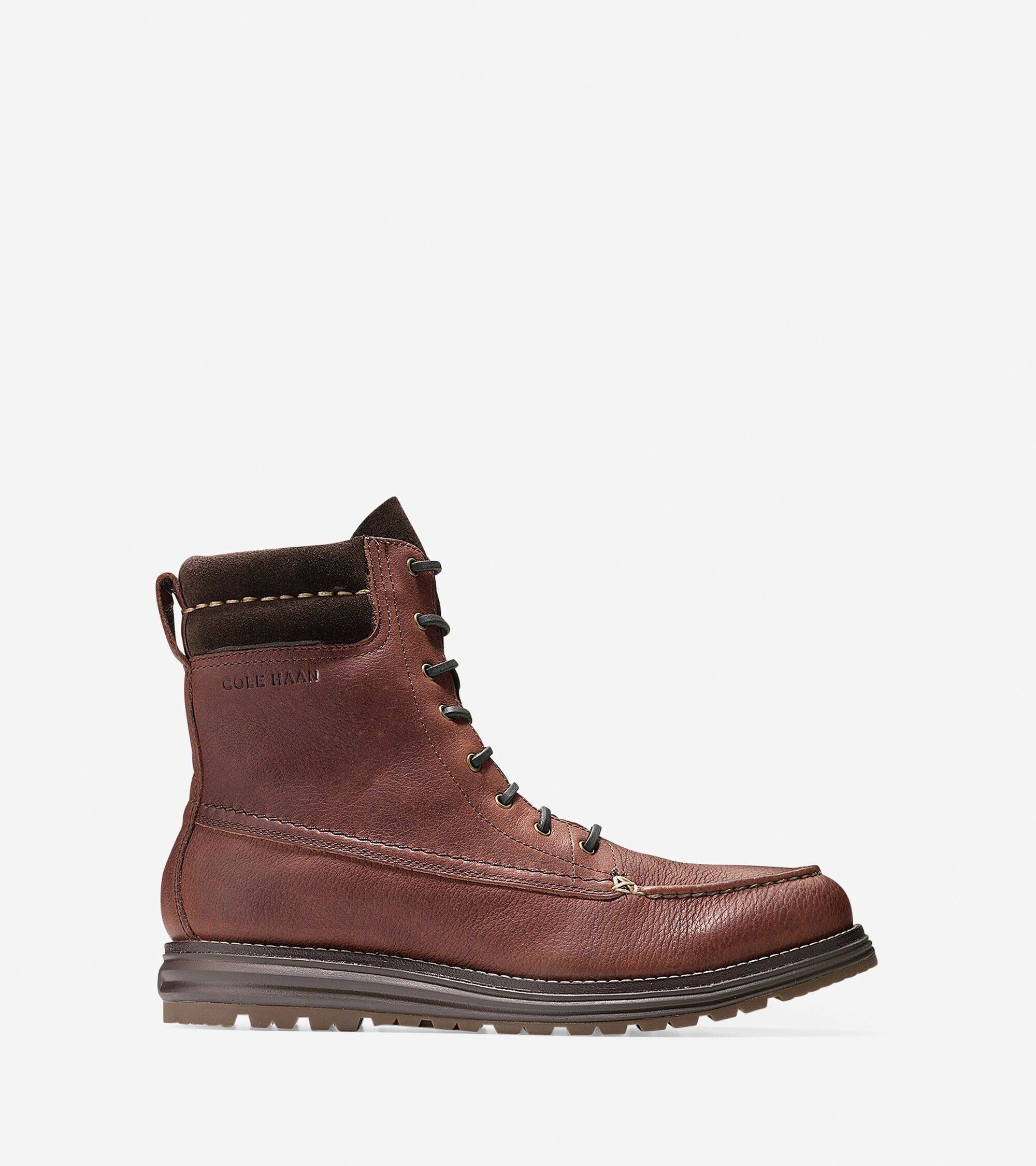 1a35d088637 Lockridge Waterproof Moc Toe Boots in Harvest Brown