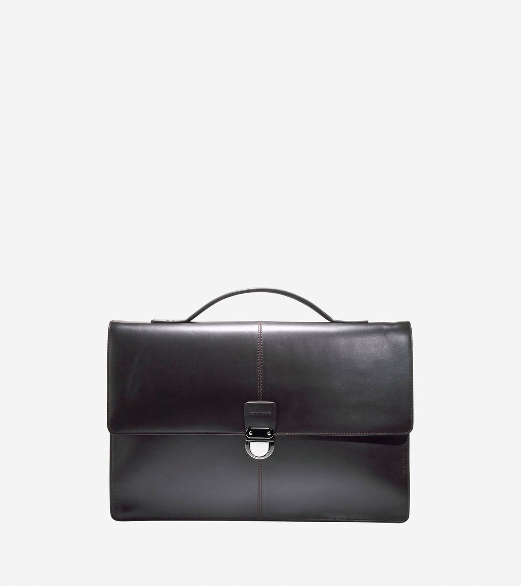 6da9dd5c16 Men's Smooth Collection Briefcase in Chocolate | Cole Haan US