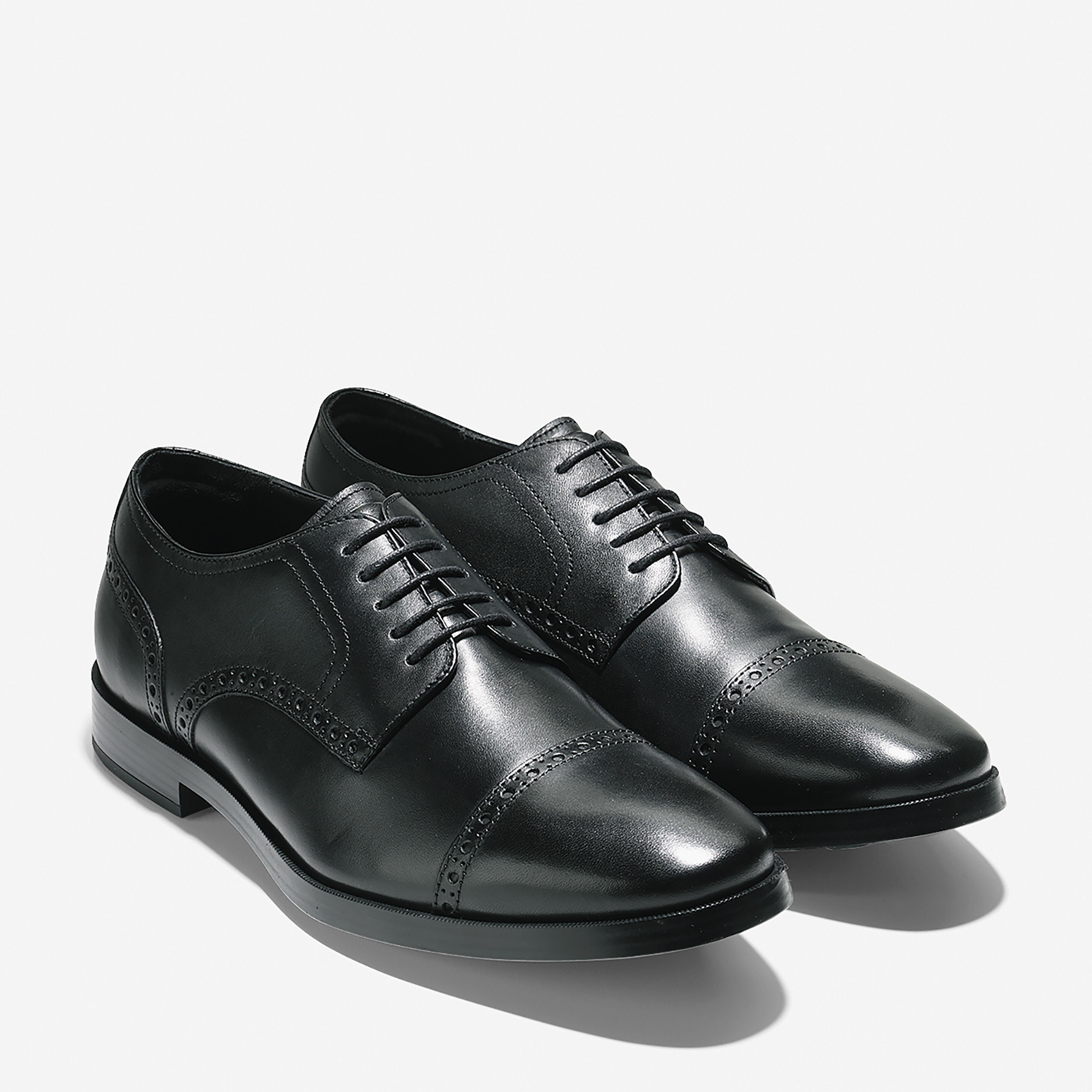 Jefferson Grand Cap Toe Oxford in Black
