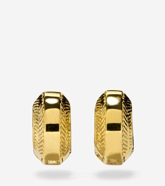 Accessories Marine Links Basket Weave Huggie Earrings