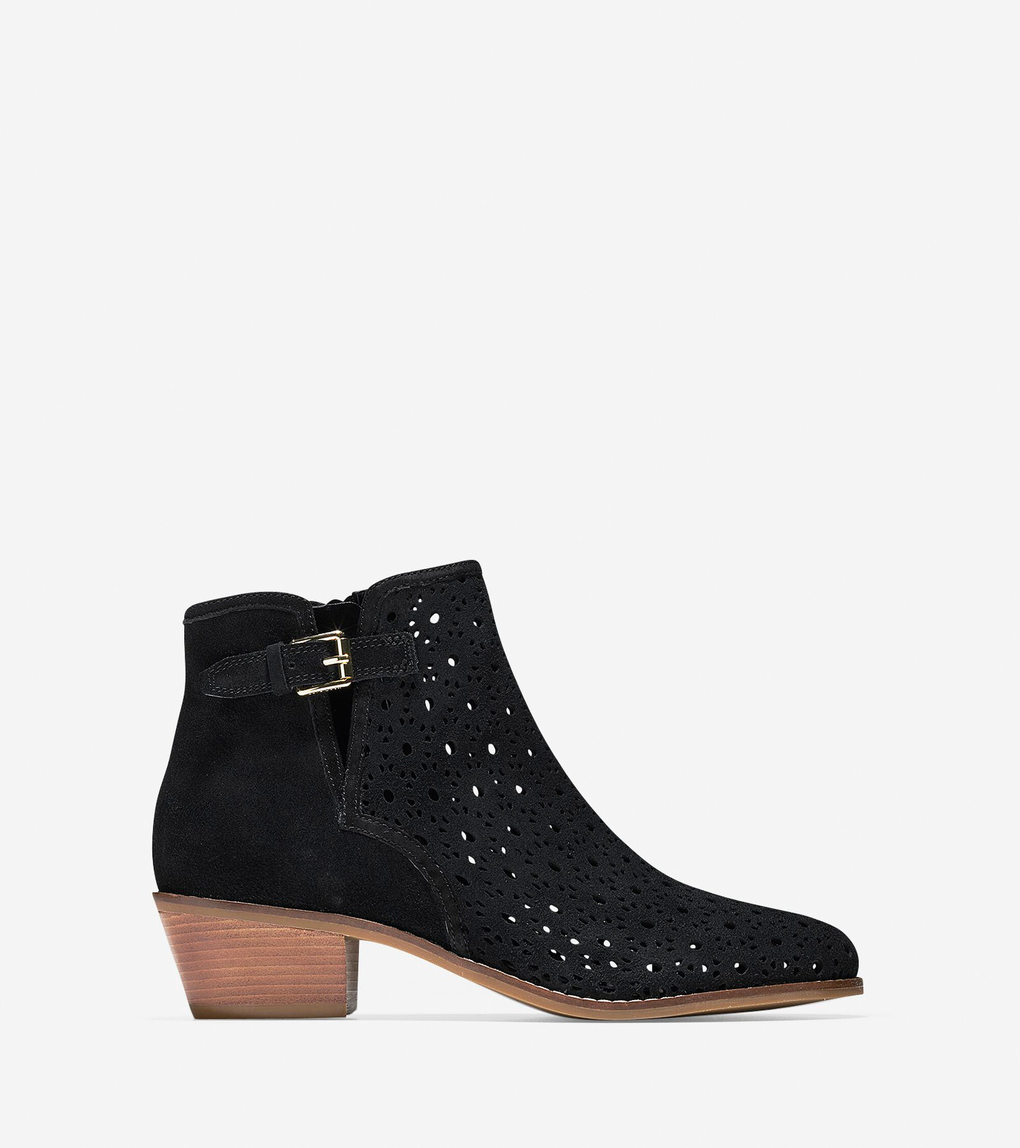 Cole Haan Womens Willette Perforated Bootie