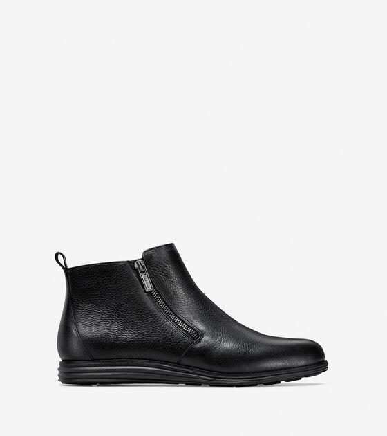 Women s OriginalGrand Zip Booties in Black Leather  633bc5b736