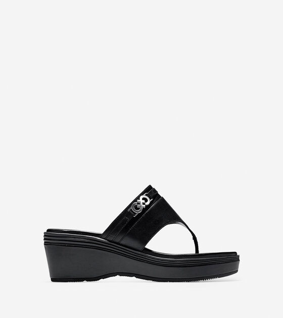 17120474a40 Lindy Grand Thong Sandals in Black-Black