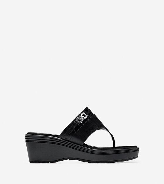 0120e5d2d6ae Lindy Grand Thong Sandals in Black-Black