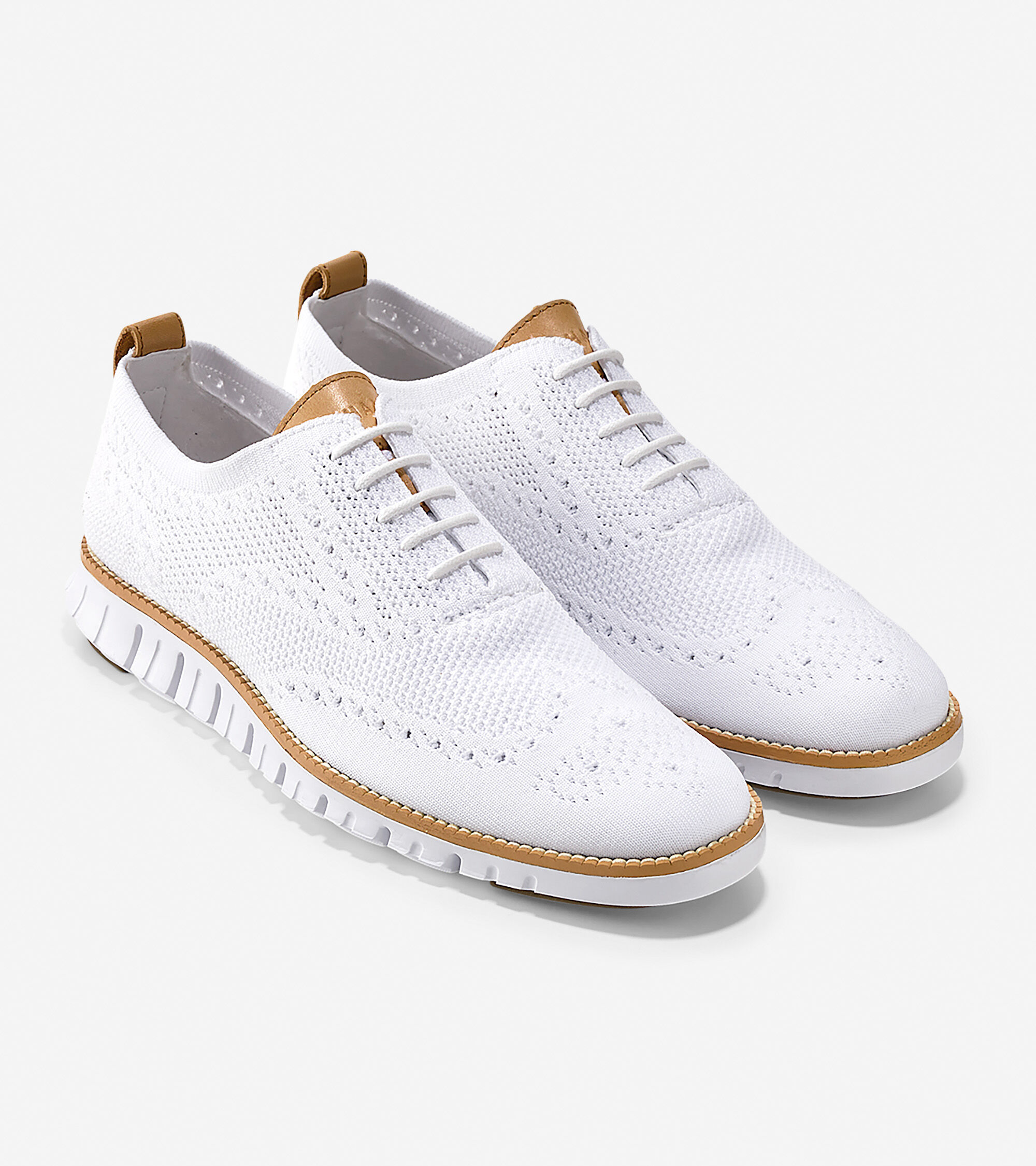 Wingtip Oxford in Optic White