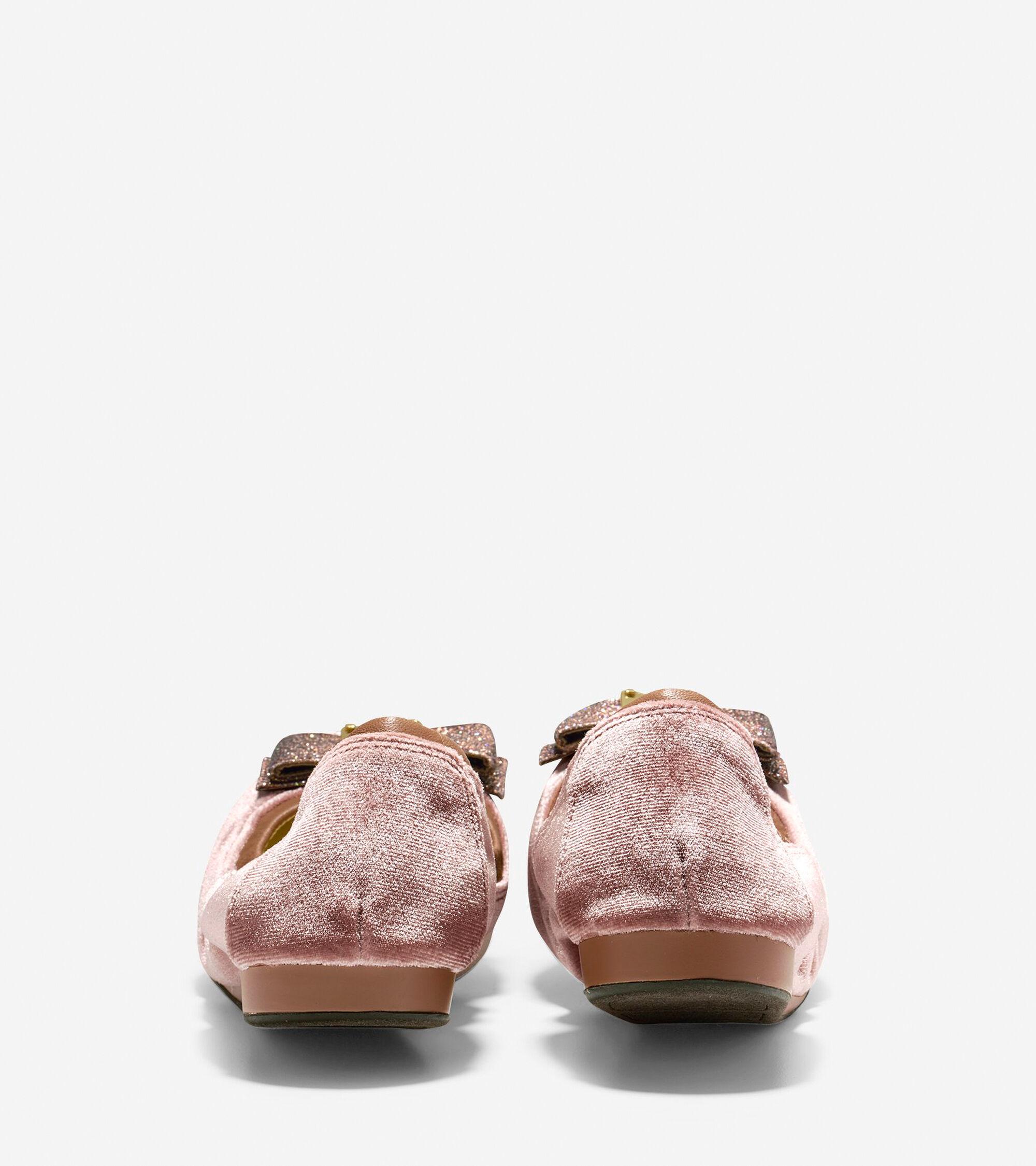 1b801023350d Women s Tali Bow Ballet Flats in Nude Velvet