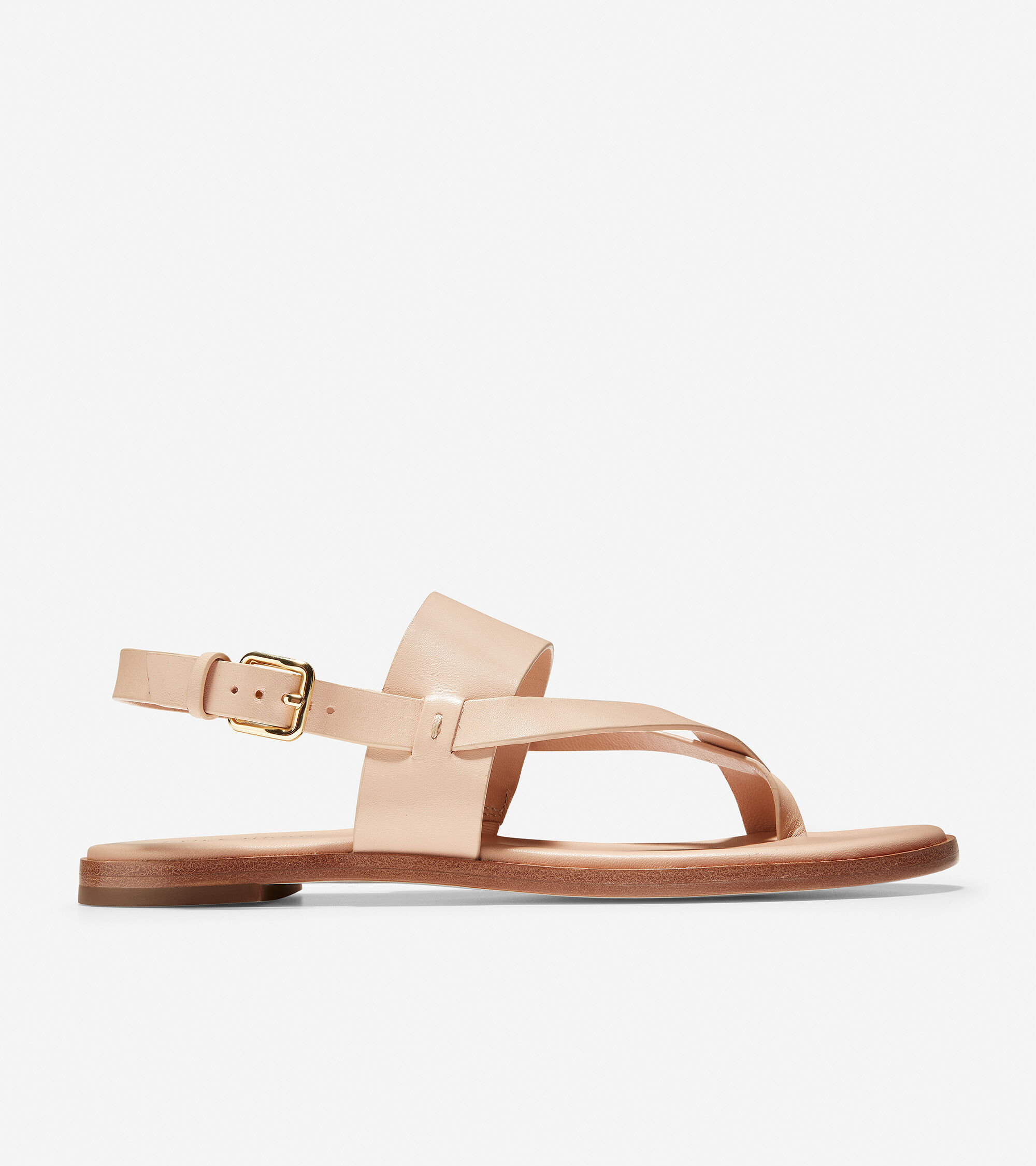 Anica Thong Sandal in Nude Leather