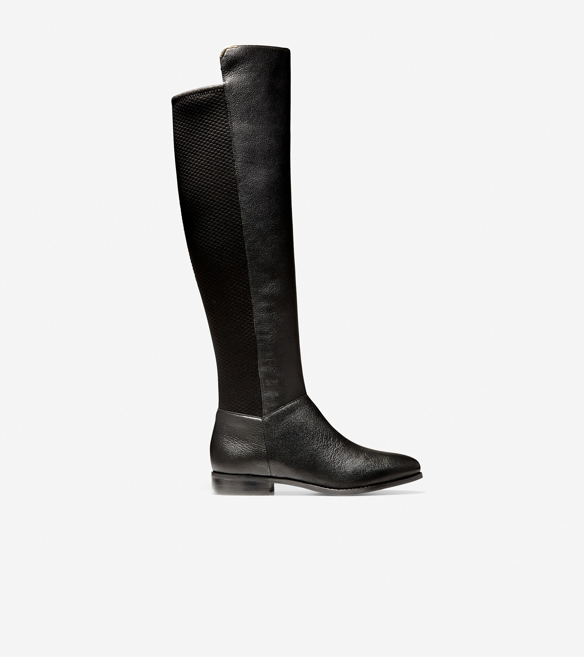 The Knee Boot in Black Leather