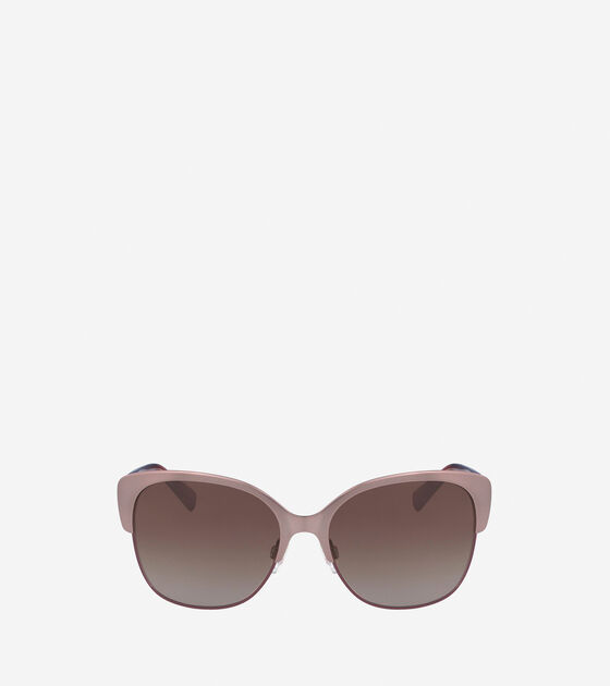 Accessories & Outerwear > Metal Acetate Weave Butterfly Sunglasses