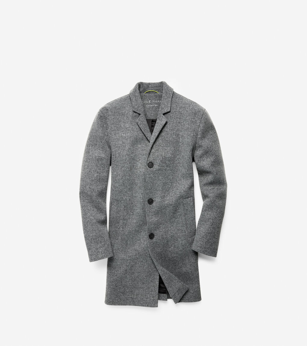 Mens GRANDSERIES Stretch Wool Top Coat