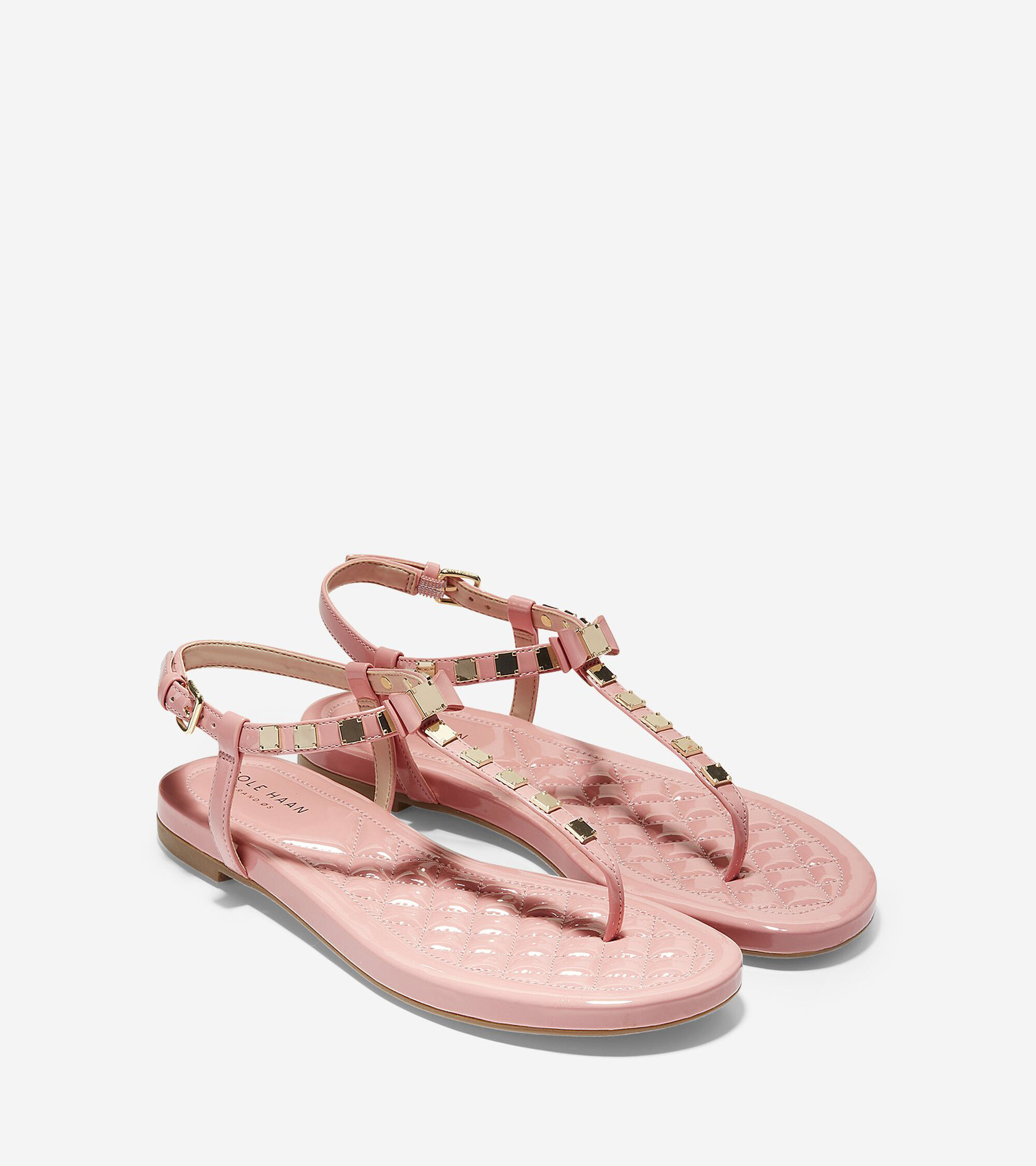 2ebecaace5701 Women s Tali Mini Bow Studded Sandals in Coral Almond